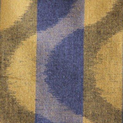 画像1: フリルブラウス七分袖(よろけ縞黄色)