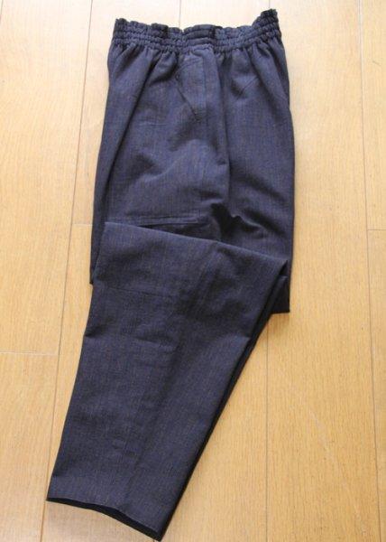 画像1: リバーシブルパンツ(茶縞) (1)