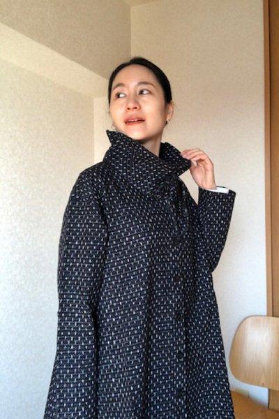画像1: リボンジャケット白樺文人黒 (1)